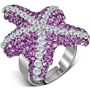 "Feshionn IOBI Rings Pink ""Pink Starfish"" Adjustable Cocktail Ring"