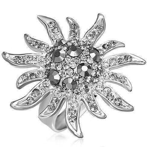 "Feshionn IOBI Rings ""Platinum Starburst"" Adjustable Ring"