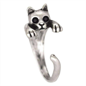 Feshionn IOBI Rings Purr-fect Kitten Adjustable Animal Wrap Ring