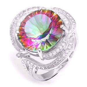 Feshionn IOBI Rings Rainbow / 6 Regalia Genuine Rainbow Fire Mystic Topaz 15CT IOBI Precious Gems Ring
