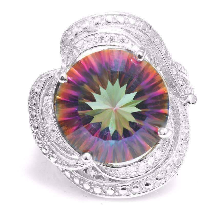 hot silver fire engagement of rainbow genuine natural sterling cut inspirational topaz ring grace beautiful mystic rings emerald wedding