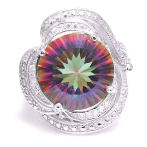 Feshionn IOBI Rings Regalia Genuine Rainbow Fire Mystic Topaz 15CT IOBI Precious Gems Ring