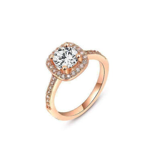 Feshionn IOBI Rings Rose / 5 ON SALE - Bella Vita Halo 2 CT Round Austrian Crystal Ring ~ In Three Colors