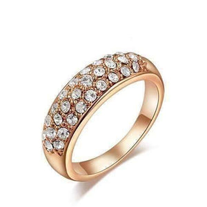Feshionn IOBI Rings Rose Gold / 5 ON SALE - 18K Gold Pave Austrian Crystals Band Ring - Choose Your Color - Ring