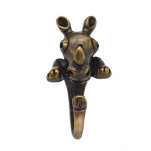 Feshionn IOBI Rings Safari Friends Rhinocerous Adjustable Animal Wrap Ring