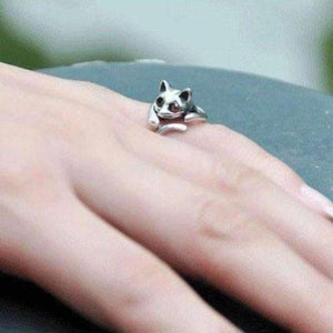 Feshionn IOBI Rings Sweet Kitty Cat Wrap Around Animal Ring