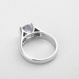 Feshionn IOBI Rings Veronique 2CT Round Semi-Bezel Set IOBI Cultured Diamond Solitaire Ring
