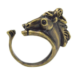 Feshionn IOBI Rings Wild West Horse Adjustable Animal Wrap Ring