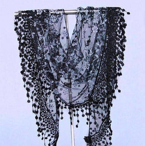 Feshionn IOBI Scarf Black ON SALE - Sheer Elegance Shawl Scarf