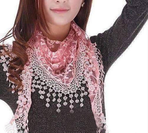 Feshionn IOBI Scarf Rose Pink ON SALE - Sheer Elegance Shawl Scarf