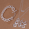 Image of Feshionn IOBI Sets Geometric Links Sterling Silver Necklace, Earrings and Bracelet Set