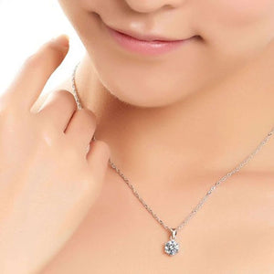 Feshionn IOBI Sets ON SALE Splendid Solitaires Round IOBI Crystals 2CT Necklace and 1CT Earring Set
