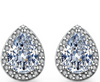 Image of Feshionn IOBI Sets Perfect Pear Austrian Crystal Halo 1CT Stud Earrings and Matching 2CT Bracelet