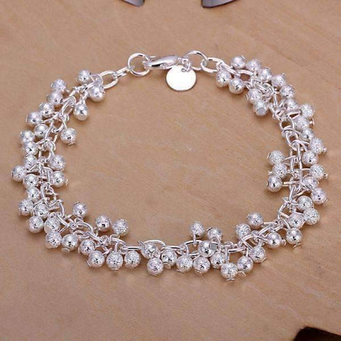 Feshionn IOBI Sets Tiny Dancing Beads Sterling Silver Necklace, Earrings and Bracelet Set