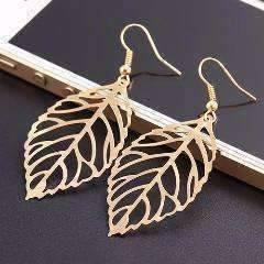 Feshionn IOBI Sets Yellow Gold Earrings Seasons of Beauty Leaf Cut Out Necklace or Earrings