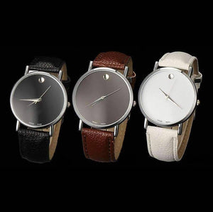Feshionn IOBI Watches All 3 colors - Discounted Swiss Leather Watch - Choose Your Color - Black, White, or Brown
