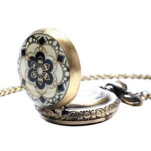 Feshionn IOBI Watches Andalusian Bronze Vintage Style Mini Pocket Watch Necklace
