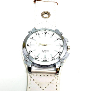 "Feshionn IOBI Watches ""Big Time"" Over-sized Wrist Watch with Wide Leather Band - 3 Colors to Choose"