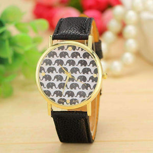 Feshionn IOBI Watches Black CLEARANCE - Elephant Parade Watch