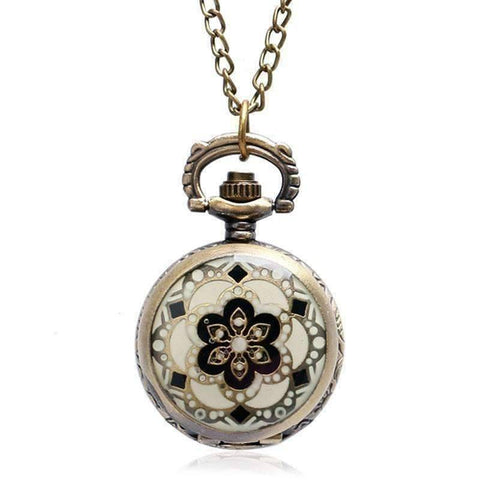 Feshionn IOBI Watches Bronze Andalusian Bronze Vintage Style Mini Pocket Watch Necklace