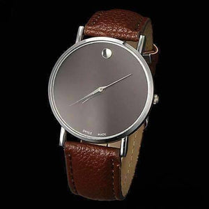 Feshionn IOBI Watches Brown Swiss Leather Watch - Choose Your Color - Black, White, or Brown