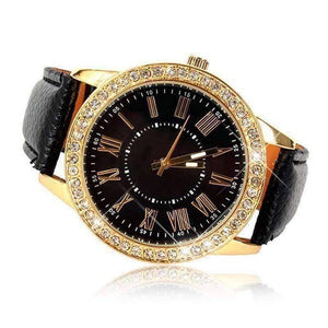 Feshionn IOBI Watches Casual Elegance Yellow Gold Geneva Watch With Matching Face ~ Two Classic Colors
