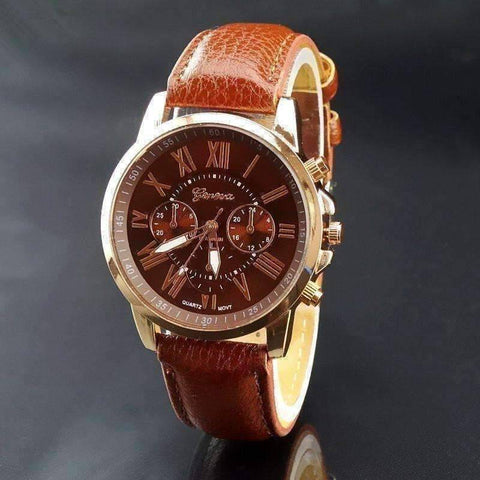Feshionn IOBI Watches Classic Brown CLEARANCE - Rose Gold Classic Geneva Watch - Choose Your Color