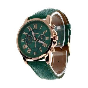 Feshionn IOBI Watches Emerald Green CLEARANCE - Rose Gold Classic Geneva Watch - Choose Your Color