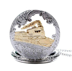 Engineer Two Tone Train Pocket Watch