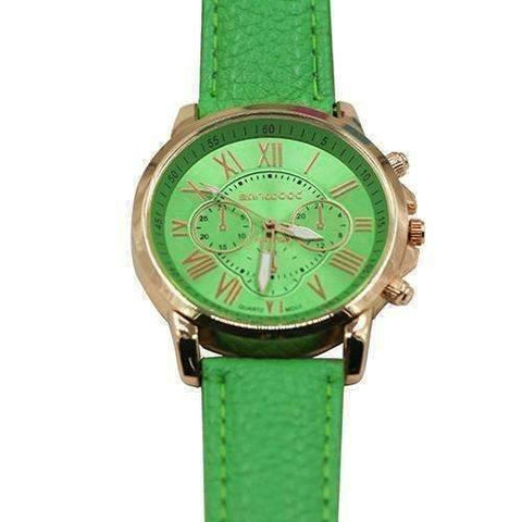 Feshionn IOBI Watches Light Green CLEARANCE - Rose Gold Classic Geneva Watch - Choose Your Color