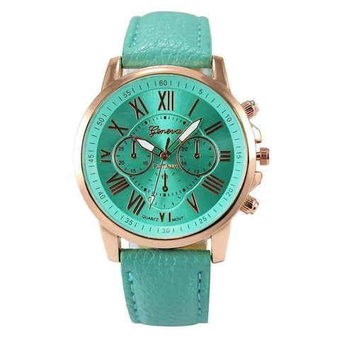 Feshionn IOBI Watches Mint Green CLEARANCE - Rose Gold Classic Geneva Watch - Choose Your Color