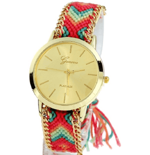 Feshionn IOBI Watches Offbeat Hand Woven Watch in 13 Colorful Patterns