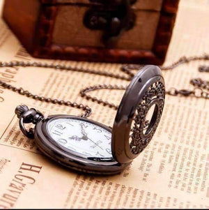 Feshionn IOBI Watches Oiled Bronze Scroll Detail Classic Pocket Watch