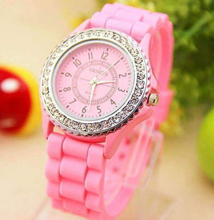 Feshionn IOBI Watches Pink Sparkly Silky Silicone Watch - Choose Your Color