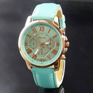 Feshionn IOBI Watches Rose Gold Classic Geneva Watch in Ocean Mint