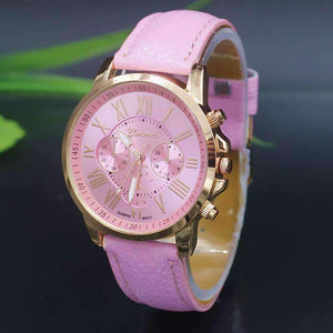 Feshionn IOBI Watches Rose Gold Classic Geneva Watch in Rosy Pink