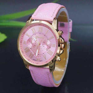 Feshionn IOBI Watches Rosy Pink CLEARANCE - Rose Gold Classic Geneva Watch - Choose Your Color
