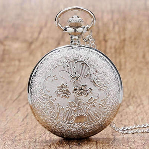 Feshionn IOBI Watches Silver Scroll Detail Classic Pocket Watch
