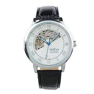 Feshionn IOBI Watches Sophisticated In White Mechanical Skeleton Automatic Watch For Men