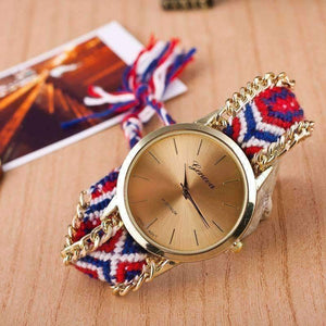 Feshionn IOBI Watches USA Offbeat Hand Woven Watch in 13 Colorful Patterns