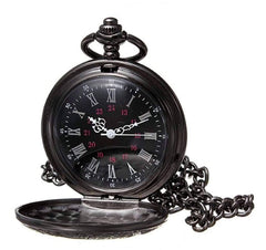 Vintage Gunmetal Window Pocket Watch
