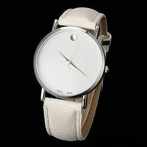 Feshionn IOBI Watches White Swiss Leather Watch - Choose Your Color - Black, White, or Brown