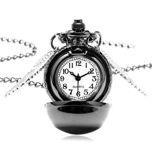 Feshionn IOBI Watches Wizard's Game Mini Snitch Gunmetal Pocket Watch Necklace