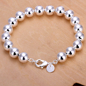 Bold Beads Silver Bracelet For Woman