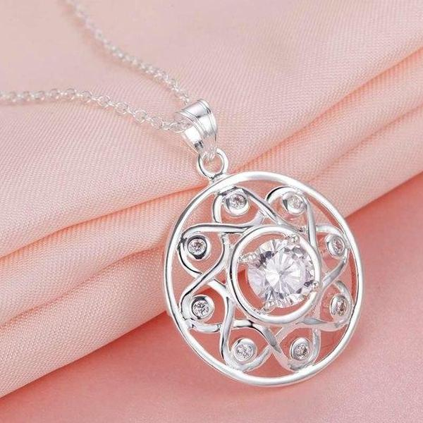 Shining All Around CZ Sterling Silver Necklace