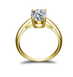 Gia D'ora 2CT Oval Solitaire IOBI Simulated Diamond Ring For Woman