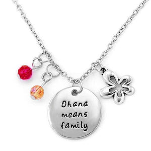 Ohana Means Family - Stamped Sentiment Necklace