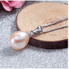 Image of Peach Genuine Freshwater Pearl Drop Necklace