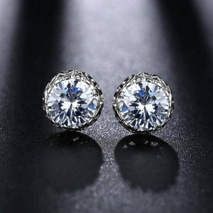 Grand Crown IOBI Crystal Stud Earrings