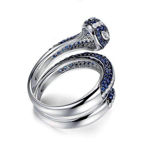 ON SALE - Tempeste En Bleu 2CTW Snake IOBI Simulated Diamond Ring